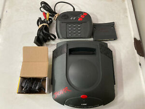 Atari Jaguar Console Bundle - Hookups, Controller, And Game - Tested Works