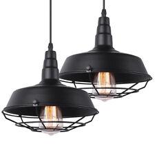 2 Retro Metal Caged Ceiling Fixture Chandelier Lamp Hanging Loft Pendant Light