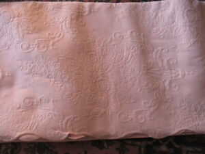 JCP HOME Peach Matelasse King Bedspread Coverlet Scalloped Hem Cotton Floral New