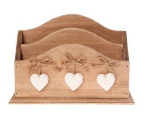 Natural Wooden Letter Rack Holder Storage Racks Home DecorationShabby Chic Gift