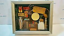 Unique Vintage One Of A Kind SHAVING SHADOW BOX  [2172]