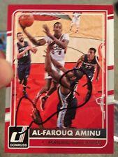 Al-Farouq Aminu autographed 2015-16 Donruss Card No. 91 Portland Trail Blazers
