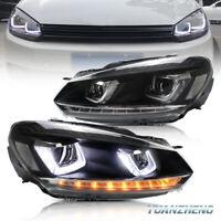 LED DRL Montaje de luces de faros For Volkswagen VW Golf 6 MK6 2009-13 par R+L