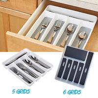 Kitchen Organiser Drawer Cutlery Insert Cabinet Utensil Storage Tray Holder Box