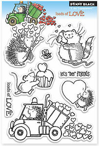 Valentine Loads Of Love Clear Unmounted Rubber Stamp Set PENNY BLACK 30-146 New