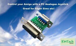 Adapter for Controlling Amiga / Atari with PC Analogue Analog Joystick KMTech