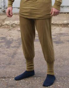 DUTCH ARMY ECW MUSTARD THERMAL LONG JOHNS COLD WEATHER BASE LAYER, NORGIE STYLE