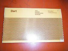 1974 Dodge Dart Original Factory Operators Owners Manual Glove Box