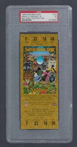 PSA SUPER BOWL XXXII 1997-1998 FULL TICKET - ELWAY BRONCOS vs FAVRE PACKERS