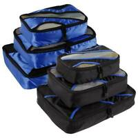 3Pcs Packing Cubes Travel Pouches Luggage Organiser Clothes Suitcase Storage Bag