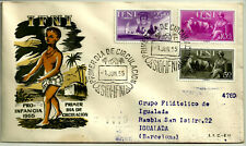 SOBRE PRIMER DÍA. PRO INFANCIA. IFNI. 1955