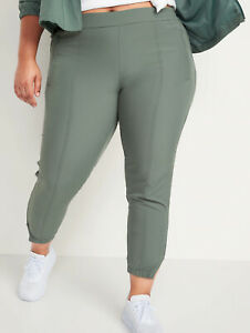 Old Navy Women's Forest Shade Mid-Rise StretchTech Jogger Pants Plus Size 2X 3X