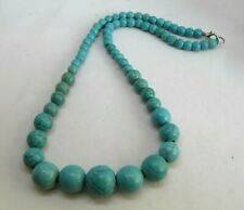 17.5 ins Turkey Turquoise Graduated Necklace