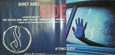 """Boney James """"Ride"""", original Warner Bros promo poster, 2001, 12x24, Vg+, jazz"""