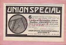 STUTTGART, Werbung 1940, Union Special Maschinen-Fabrik GmbH Häkel-Maschine