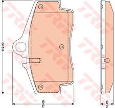 Plaquettes de frein TRW GDB1757 pour Porsche