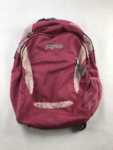 Jansport Pink Multi Pocket Backpack Standard Size