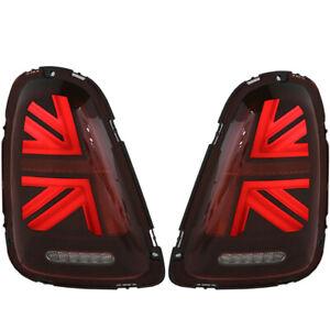 Union Jack LED Taillight for 07 08 09 10 Mini Cooper R56 R57 R58 R59 Dark Cherry