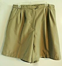AW Golf by Allyson Whitmore Ladies Solid Moss Green Polyester Shorts Sz 16P