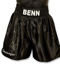 "*New Rare* Conor Benn ""Destroyer"" Signed Custom Made Boxing Trunks"