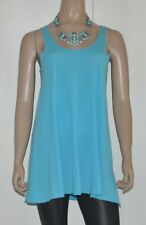 METALICUS blue cotton blend tank top EUC OSFM / 8 10 12 BUY 5 items = Free Post