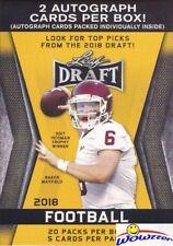 2018 Leaf Draft Football HUGE Factory Sealed 20 Pack Blaster Box-2 AUTOGRAPHS!