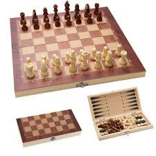 Schachspiel Geschenk Schach Sehr schönes Holz 3 in1 klappbares 29*29CM