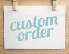 Custom listing for dudno1666