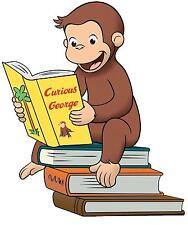 Curious George # 12 - 8 x 10 - T Shirt Iron On Transfer
