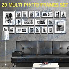 Large Multi Picture Photo Frames Wall Set 20pcs 215cm X 77cm Home Art Deco Gif White