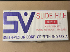 Vintage Smith Victor SF 1 Slide File Case - 450 Paper 150 Glass 2x2 - SEALED NEW