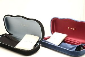 New Authentic Gucci Velvet Sunglasses Eyeglasses Case  PICK A COLOR