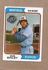 1974 topps 2015 original buyback card 97 bob bailey montreal expos