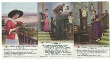 "BAMFORTH - ""TURN THE CLOCK BACK A YEAR"" Set of 3 Song Cards Postcards 5022.1/3"
