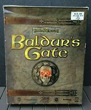 BALDUR's GATE Big Box complete in package- PC Win 95, 1998- Forgotten Realms RPG