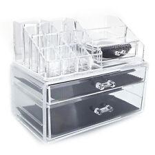 3 Drawers Clear Acrylic Tower Organizer Cosmetic Jewelry Luxury Storage Cabinet