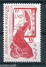 ST-PIERRE-et-MIQUELON, 1989, timbre 502, POISSON, LA PECHE, neuf**
