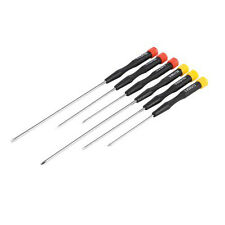 6 Piece Extra-Long Precision Screwdriver Set - Slotted & Phillips/Philips