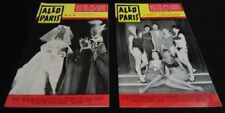 Lot of 2 1965 Entertainment Guides Allo Paris France