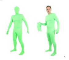 Fluorescent green Lycra Spandex Halloween Party Zentai Costumes -- Remove Mask