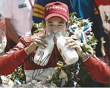 INDY CAR HELIO CASTRONEVES SIGNED 8X10 PHOTO INDIANAPOLIS 500 CHAMPION 9 W/COA
