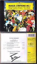 Pierre BOULEZ Signiert MAHLER Symphony No.1 Titan Chicago Orchestra DG CD 1999