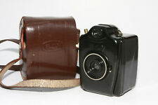 Bilora Boy 4,5x6 Bakelit Rollfilmkamera schwarz mit Ledertasche
