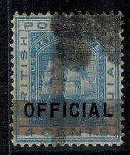 British Guiana 1878 1c on 4c Blue 2 Horiz & 1 Vert Bar Official Used F/VF SG 144
