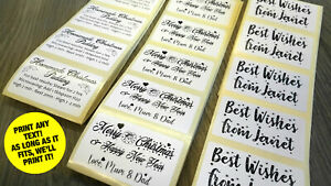 60 x Personalised Printed Sticky Labels for Names, Messages - PRINT ANY TEXT!!!