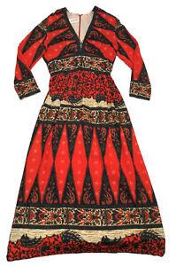 Vintage Psychedelic Dress Saks Fifth Avenue 1960s 1970s