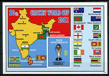 Dominica Sports Stamps 2011 MNH 10th Cricket World Cup Flags 1v S/S