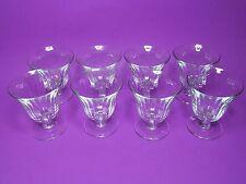 """VINTAGE HEISEY FINE RIB DESERT GLASSES """"H"""" IN DIAMOND (Set of 8)"""