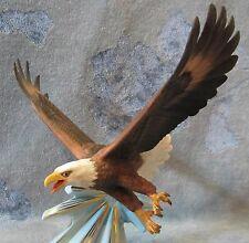 "Franklin Mint ""Triumph Of The Eagle"" Porcelain Sculpture Signed George McMonigle"