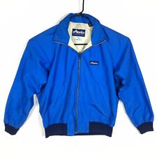 Atlantis Men's GORTEX Jacket Size Large Blue Packable Hood Collar